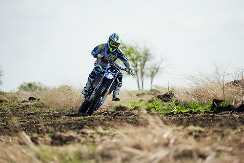 motocross rider at the TexPlex Park track